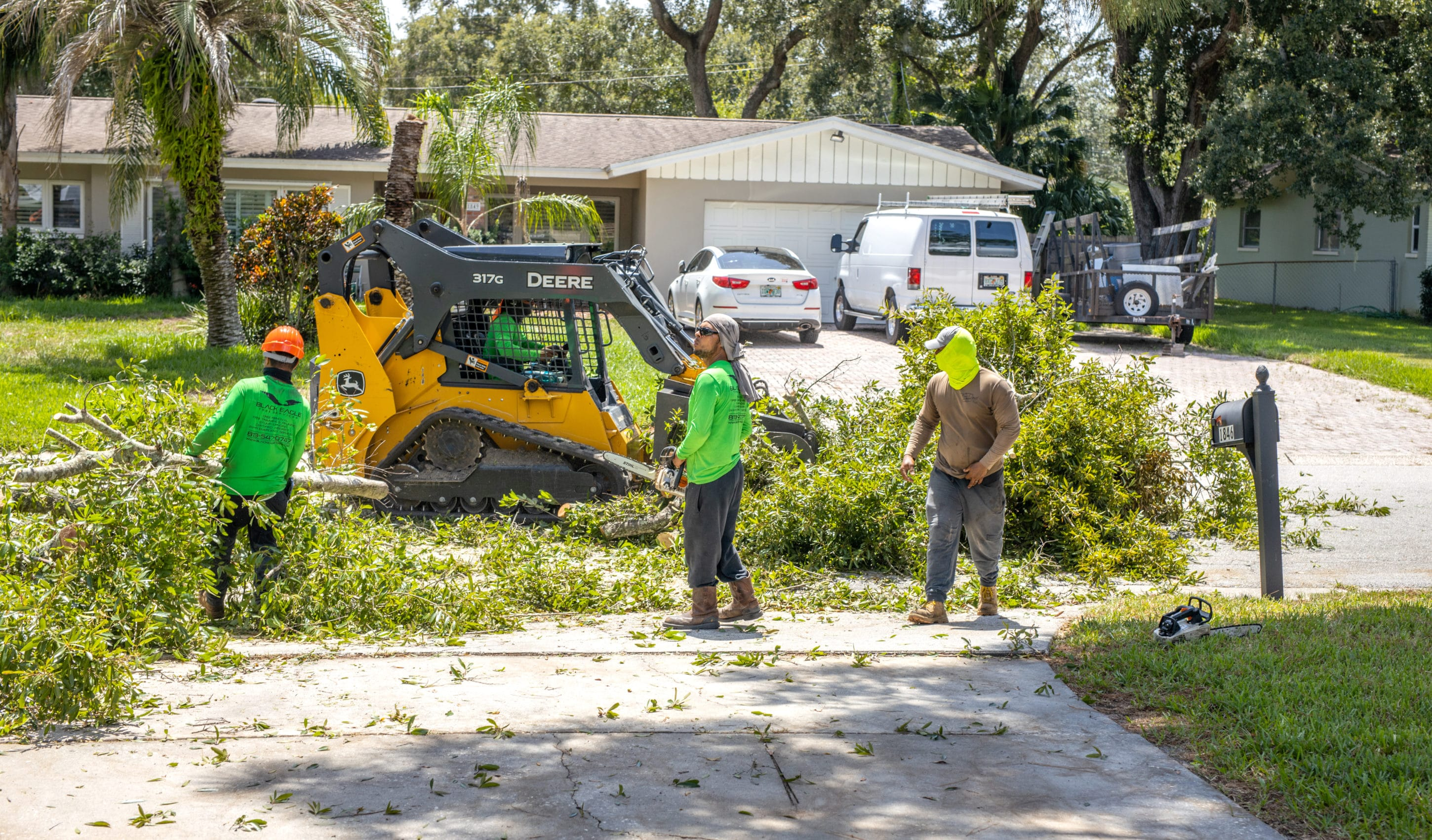 Our Team in Action Doing Storm Damage Cleanup